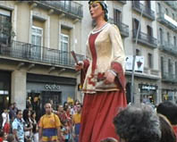 Fiesta mayor en Barcelona